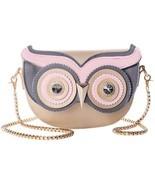 QZUnique Women's PU Gold Metal Strap Owl Satchel Cross Body Shoulder Bag... - $66.12