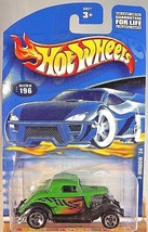 2001 Hot Wheels Collector No #196 3-WINDOW '34 Green w/5 Spokes Thailand - 50077 - $6.25