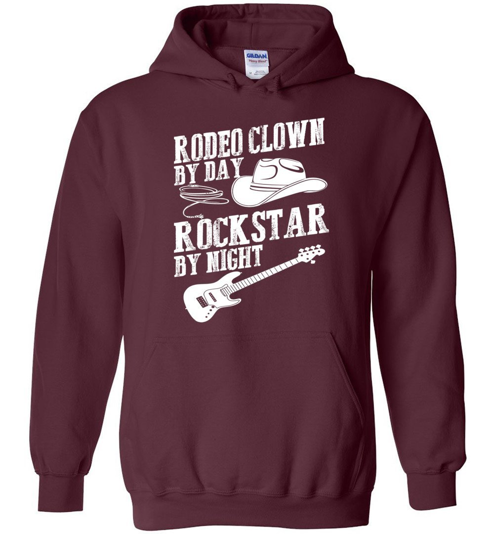 Rodeo Clown By Day Rock Star By Night Blend Hoodie