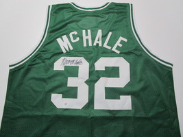 KEVIN MCHALE / NBA HALL OF FAME / AUTOGRAPHED BOSTON CELTICS CUSTOM JERSEY / COA image 1
