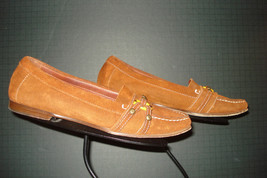 Cole Haan Italy Rust Suede Leather Strap Loafer Size 8B EXCELLENT! - $35.26