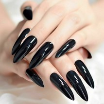 24Pcs Extra Long False Nails Tips Sharp Stilettos Cat Nail UV Gel Easy A... - $5.98