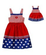 Dollie & Me Girls 4-14 and Doll Matching Patriotic Dress Clothes America... - £18.21 GBP