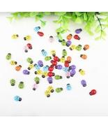 13*9mm Cartoon Style Mini Ladybug Fridge Sticker 100pcs/lot - $11.95