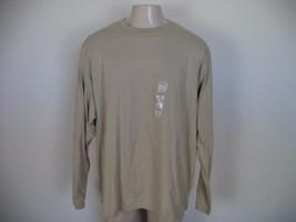 Men's Khaki Covington Suede Crew Shirt. Size 2XL. 100% Cotton. Long Sleeve - $17.82