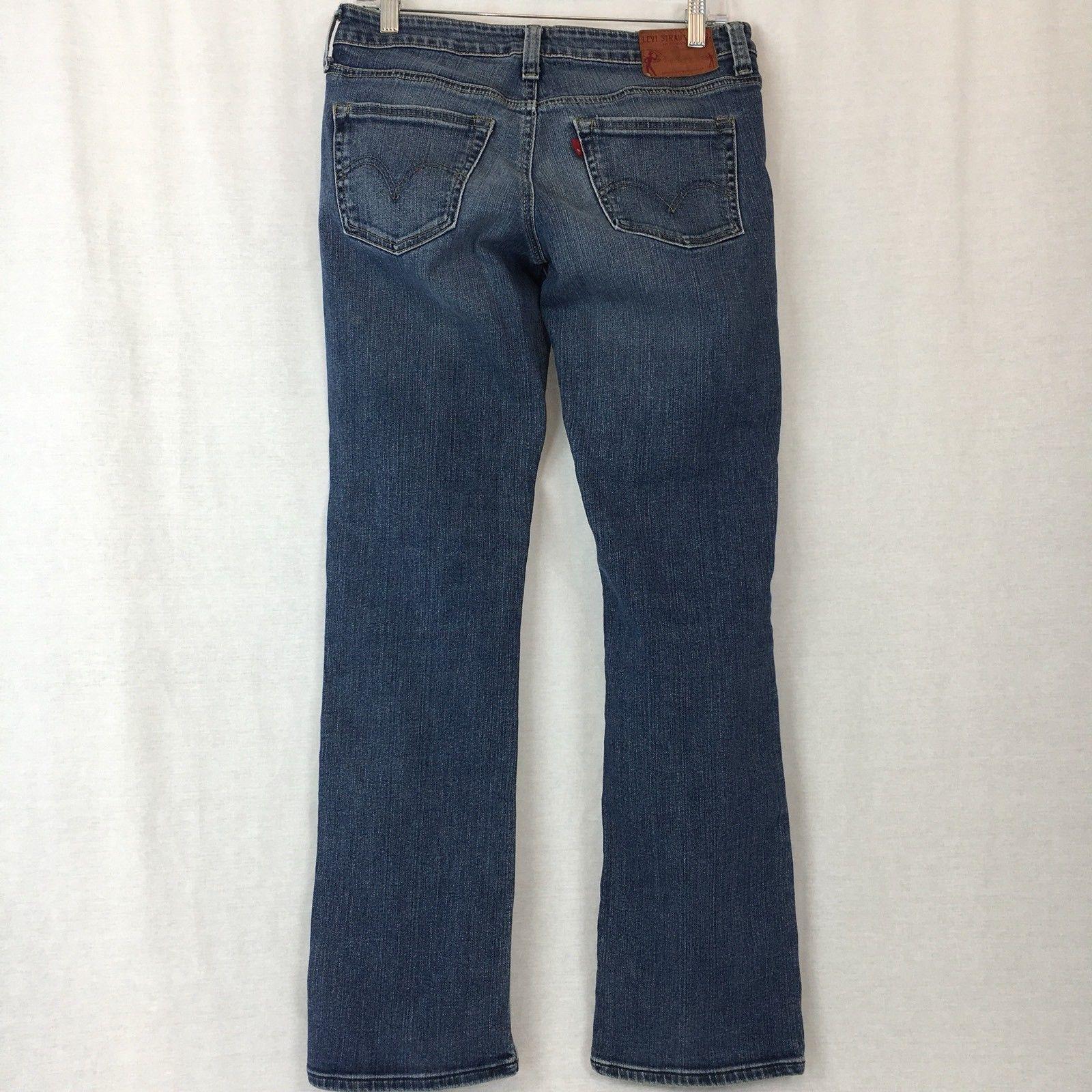 Levi's Demi Straight Jeans Cotton Stretch Low Rise Button Fly VTG USA Size 29M