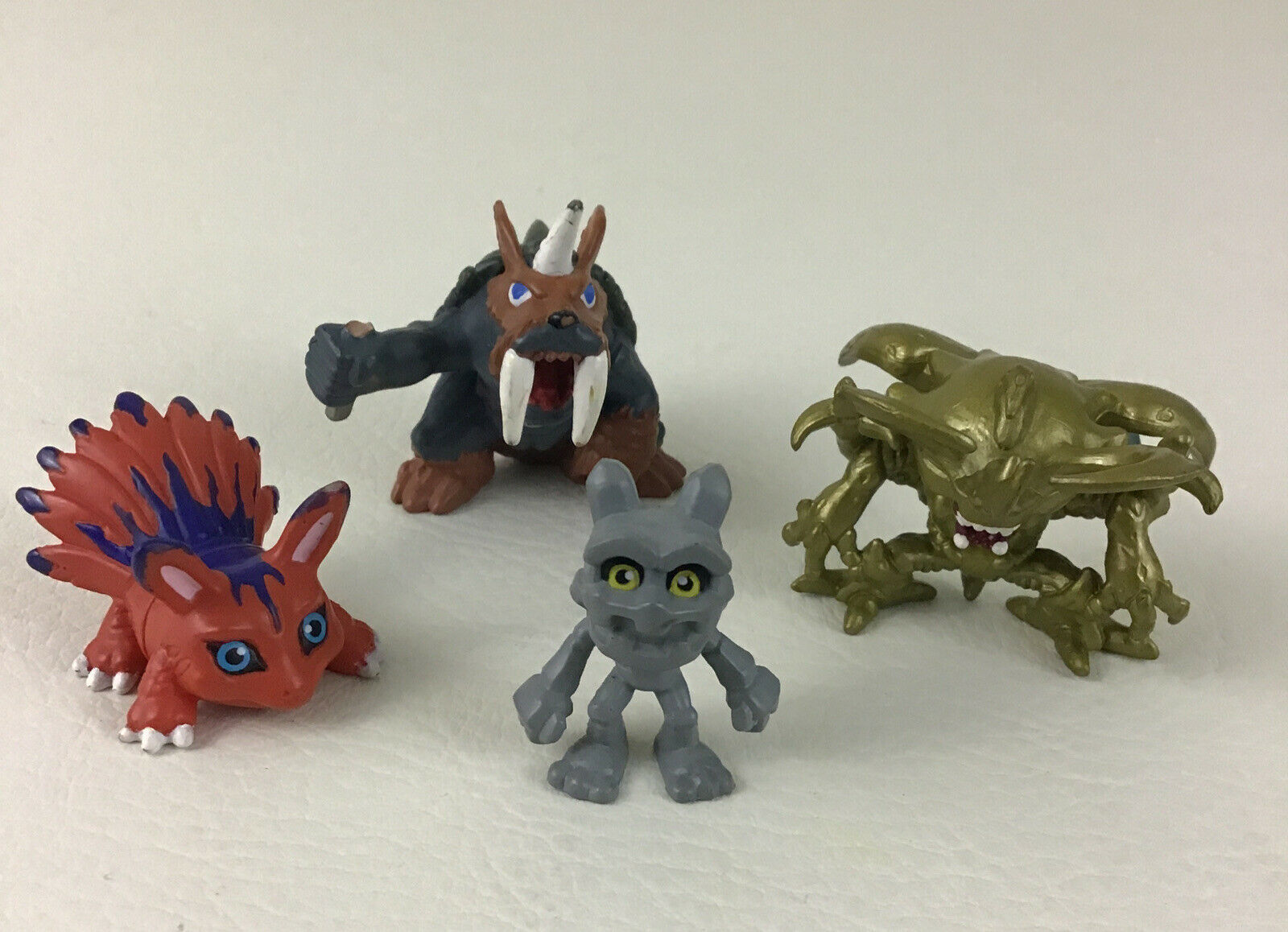 Digimon Digital Monsters Mini Figures Kubuterimon 4pc Lot Vintage 2000 Bandai - $24.91