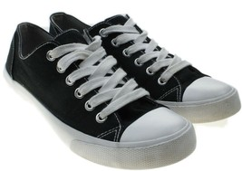Mossimo Supply Co LENIA Womens Sz 7 Black Canvas Lace-up Sneakers - $12.82
