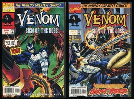 Venom Sign of the Boss Comic Set 1-2 Lot Marvel Spider-Man symbiote Ghost Rider - $40.00