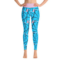 Blue Pink Abstract Design Women's Leggings - $49.00+