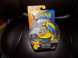 Pokemon Tomy Figure Machop Quick Ball Clip N' Carry Pokeball Rare NEW - $20.75