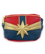 Loungefly Captain Marvel Comics Movie Faux Leather Waist Fanny Pack Bag ... - $35.00