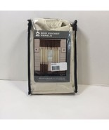 """2 Alexa Rod Pocket Panels Brown Off White Embroidered 42"""" x 84"""" - $19.34"""