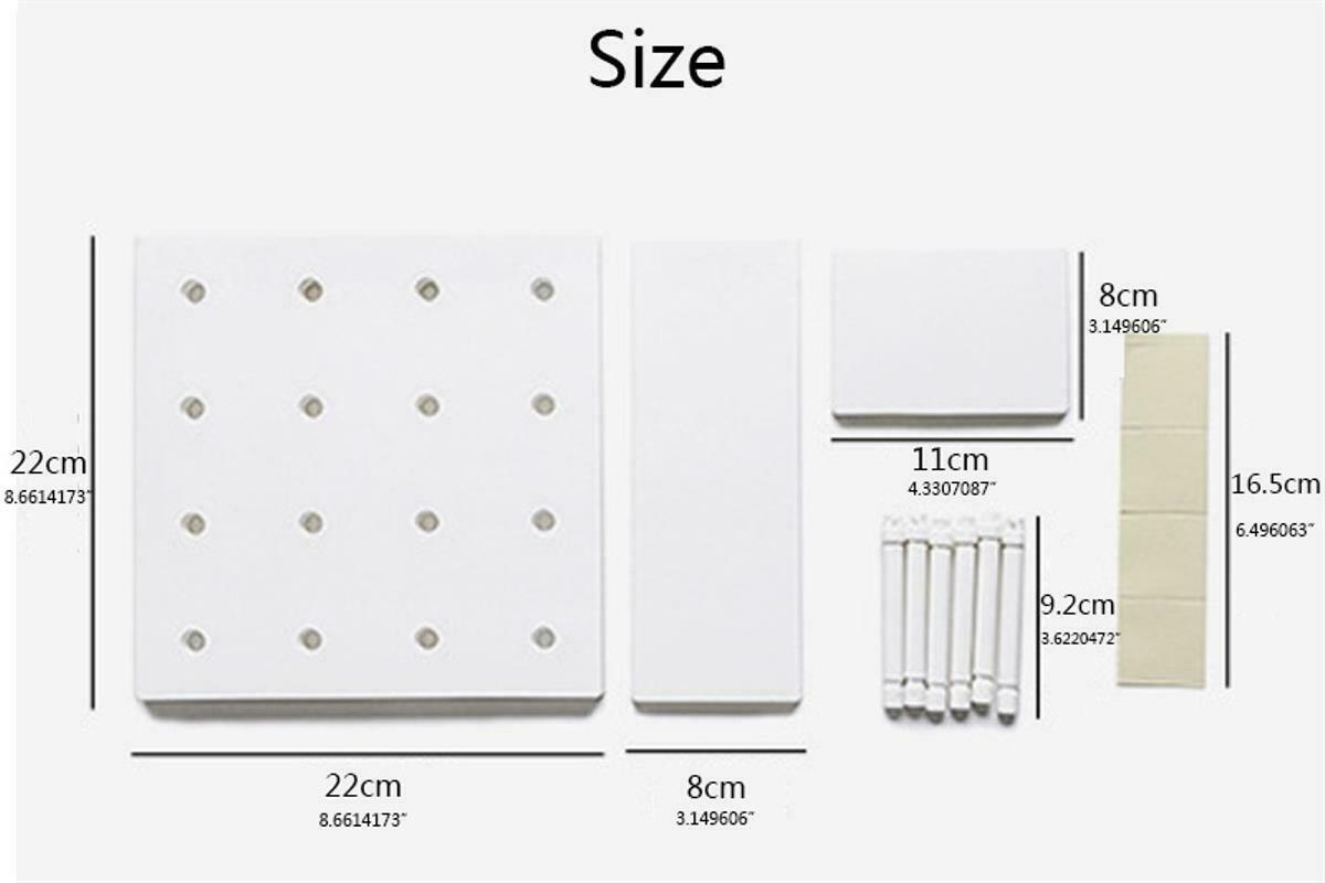 Hole Plate Wall Storage Rack Living Room Kitchen Suction Holders Home Organizers image 11