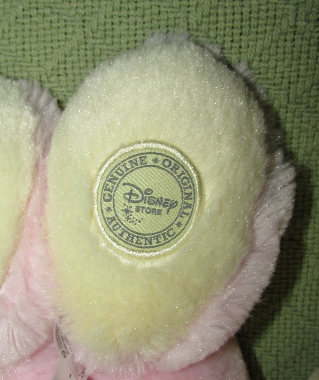 DISNEY STORE BABY Pink Easter Bunny & Mrs. Santa Claus Minnie Mouse Plush Dolls image 6