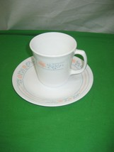 Corning Corelle Coffee Cup and Saucer Set M Wave OK 11Oz USA - $3.95