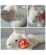 Ty Beanie Baby Mystic Rare Iridescent Horn Yarn Mane Unicorn 5th Generation - $12.80