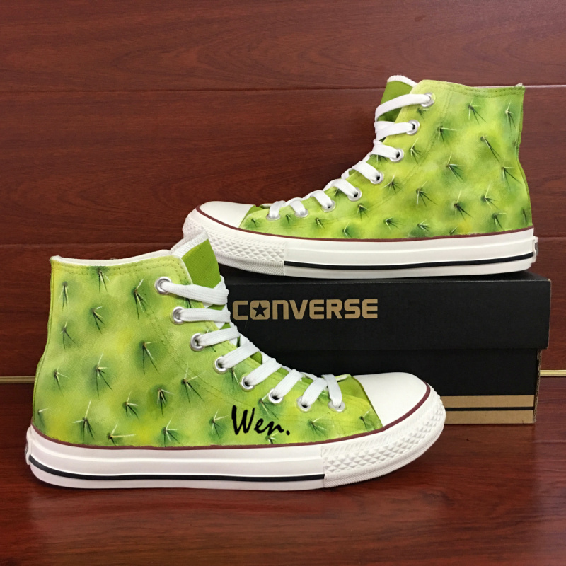 7e776744979a Img 9647. Img 9647. Previous. Original Design Cactus Hand Painted Shoes Man  Woman Converse All Star Sneakers