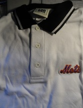 New York Mets Large Lee Sport Dress Shirt White Long Machine Washable Ne... - $27.50