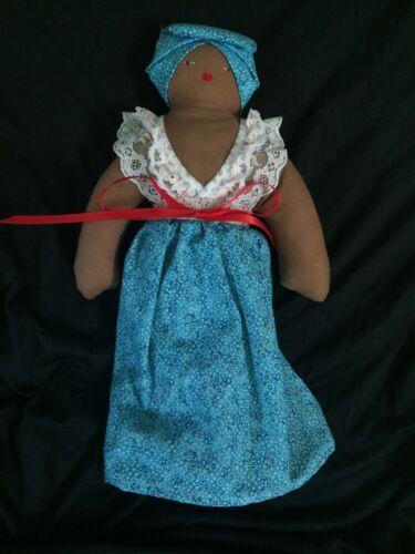 """Handmade Dona Nana Soft 11"""" Rag Doll Puerto Rico Signed by Artist"""