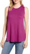 Gibson X Living In Yellow Millie Cozy Muscle Tank Top Hot Pink Size Large - $17.39
