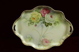 Royal Rudolstadt Prussia  Porcelain Serving Tray Floral Stunning - $79.99