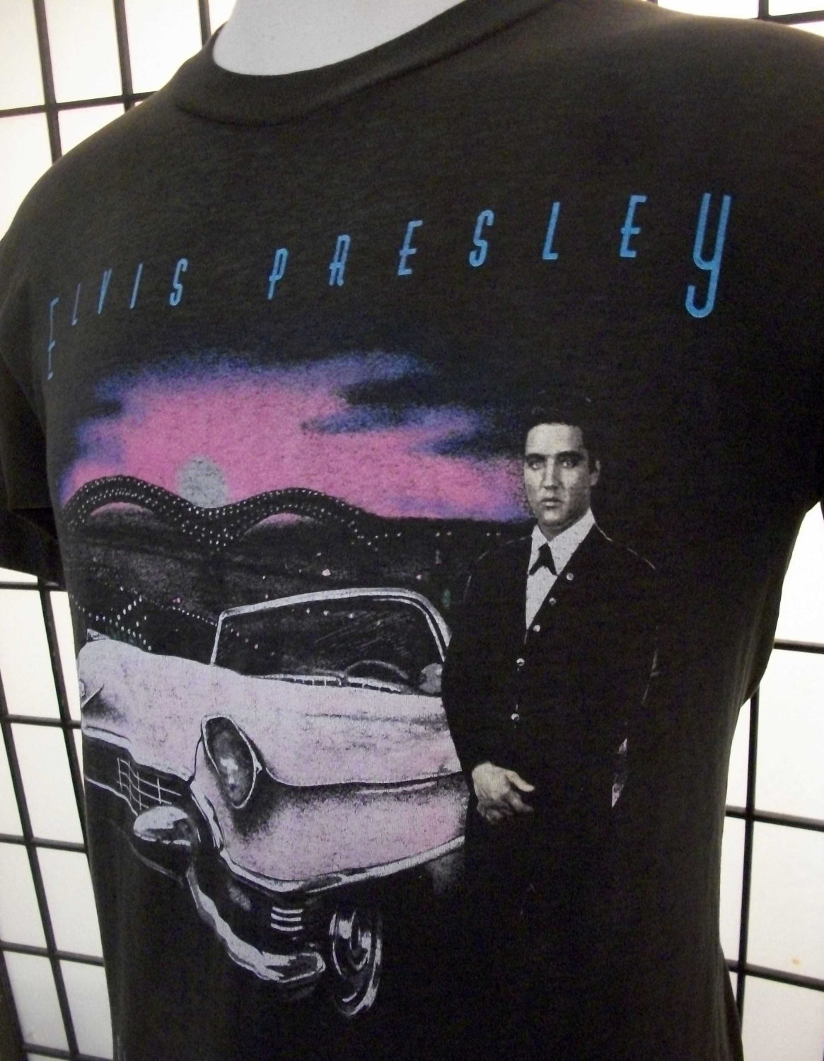 """Elvis Presley & Pink Cadillac """"Classics are Forever"""" Screen Stars thin 50/50 vin"""