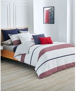 $300.00 Lacoste Home Lacoste Milady Full/Queen Cotton Duvet Set, Red - $103.95