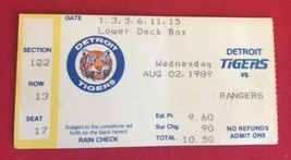 MLB Detroit TIgers Vs Rangers TIcket Stub 1989 - $21.77