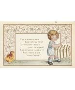 Vintage Postcard Easter Little Girl Hatbox Chick 1915 Whitney Made - $7.91