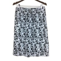Womens Gap Small Black White Abstract Print Skirt Lined S Polyester - $5.93