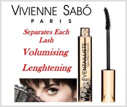 Vivienne Sabo EVENTAILLISTE Triple Effect Mascara Black 9 ml - $16.82