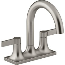 KOHLER Venza 4 in. Centerset 2-Handle Bathroom Faucet in Vibrant Brushed... - $108.90