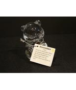 Fenton Crystal Clear Birthday Bear Figurine Paperweight November Citrine - $5.49