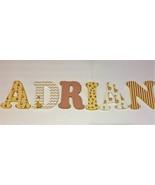 Giraffe themed-Wood Letters-Nursery Decor- Price Per Letter- -Custom mad... - $12.50