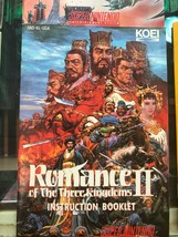 Romance Of The Three Kingdoms 2 MANUAL Super Nintendo Booklet Game Instructions - $10.21