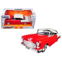 1955 Chevrolet Bel Air Red Bigtime Muscle 1/24 Diecast Model Car by Jada... - $37.75