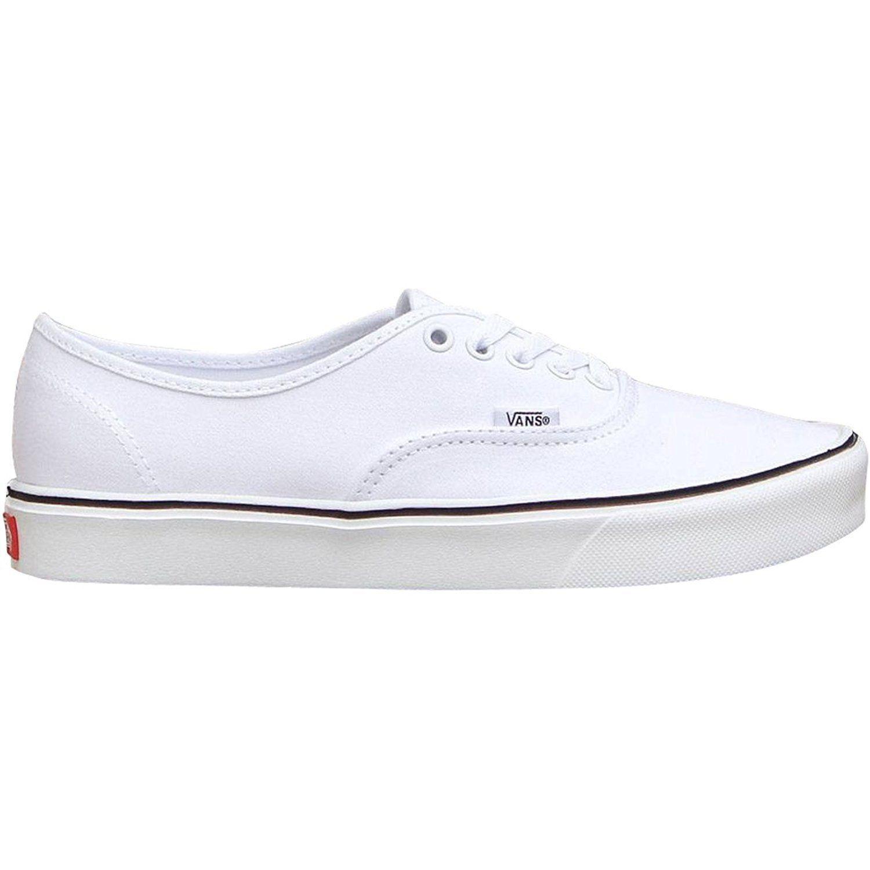Vans Authentic Lite + Sneakers (Canvas) True White Mens 8 Womens 9.5