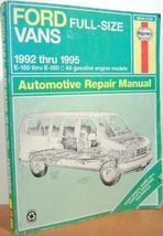 Ford Vans Automotive Repair Manual: 1992 Through 1995 (Haynes Repair Man... - $6.91