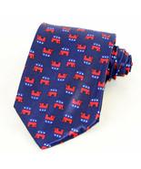 Republican Elephant Mens Necktie GOP Conservative Political Party Blue N... - $14.85