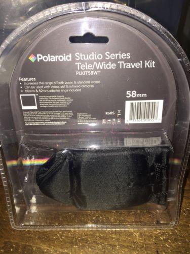 OEM Studio Series 52/55/58mm .43x HD Polaroid WideAngle Lens+2.2X Telephoto Lens