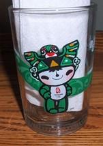 Mcdonalds 2008 Beijing China Olympic Fuwa Mascot NINI SWALLOW Glass (Green) - $14.99