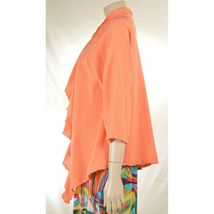 Oh My Gauge jacket cover open OS orange sherbet long sleeve ruffle front hi lo image 11