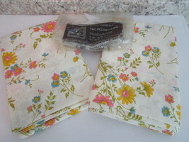 Vintage Floral Pastel Standard Pillowcases - Set of 2 - No Iron - Never ... - $19.99
