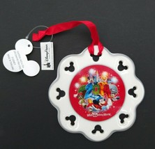 Disney Parks 2014 Happy Holidays Ornament Mickey Mouse Sorcerer Hat Snow... - $24.99