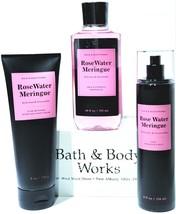 Bath & Body Works Rosewater & Meragnue Body Lotion, Bath Gel, Body Mist - $33.17