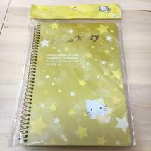 Sanrio Vintage Hello Kitty B6 Ring Notebook Star Angel Yellow Cute - $29.01