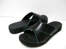 Ugg Kari Women Flip Flop Leather Black Us 9 /UK 7.5 /EU 40 - $79.19