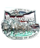 Anheuser Busch Budweiser The King Of Beers 1987 C+J Belt Buckle Made USA - $39.57