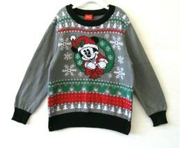 Disney Hybrid Jungen Pullover Grau Multi Urlaub Mickey Maus Größe 6 Neu ... - $29.68